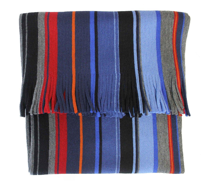 schal gestreift grau blau schwarz rot wolle. Black Bedroom Furniture Sets. Home Design Ideas