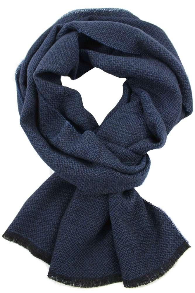 73d9e6af92ae19 Schal Webschal Uni modisch blau 100% Wolle (Merino) R-98