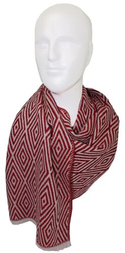 Herrenschal Winterschal 200 x 38 cm  rot Wolle made in Germany